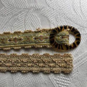 "Carson Lane Fabric Belt - 38"""